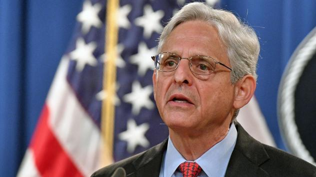 U.S. Attorney General Merrick Garland holds a press conference Thursday to announce a lawsuit against Texas. The Department of Justice is seeking a permanent injunction against the state's new abortion law.