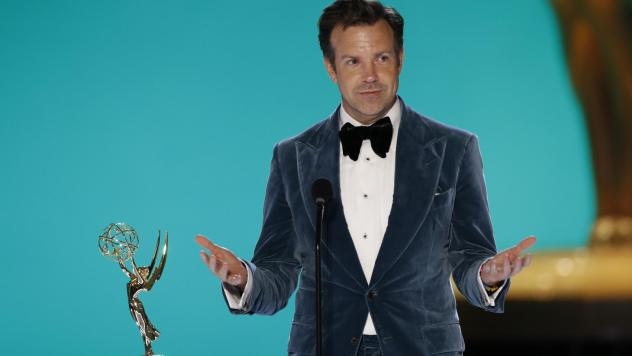 Jason Sudeikis of <em>Ted Lasso</em> had a good night on Sunday, winning for both his lead performance and the show overall.