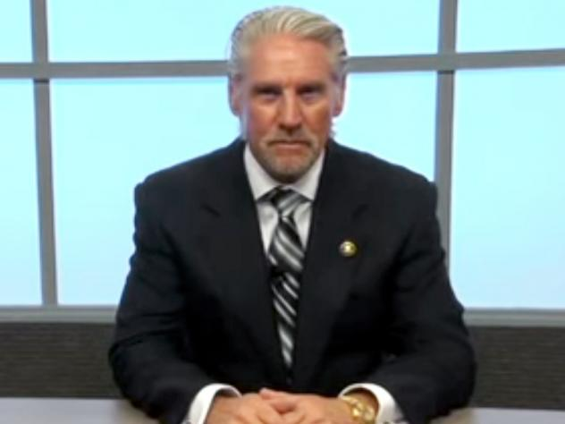 A screen shot of Doug Williams from one of his videos on how to beat a polygraph test.