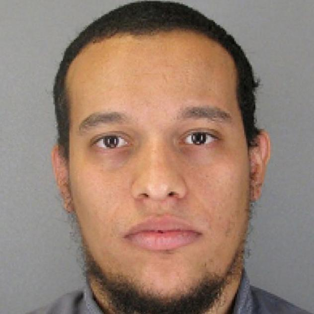 A police photo showing Said Kouachi from an arrest some time before the Jan. 7 attack on the French magazine. Said, who was killed by police two days after the attack, was reportedly secretly buried in his hometown of Reims.