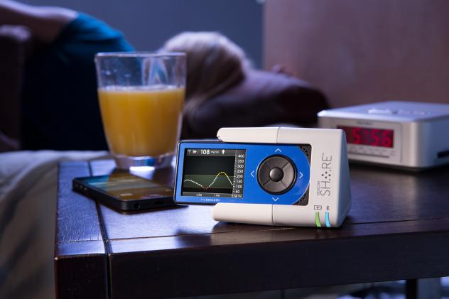 The Dexcom Share device is designed to help monitor glucose levels remotely.