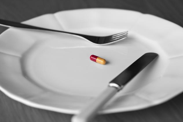 Ronald Evans, director of the Salk Institute's Gene Expression Laboratory, has developed a compound called fexaramine that acts like an imaginary meal. He hopes fexaramine, which tricks the body into burning fat as if it has consumed calories, will lead