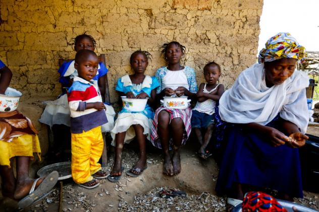 Mamuedeh Kanneh was married to Laiye Barwor, the man who brought Ebola to Barkedu, Liberia. He died of the virus. She now cares for her children as well as children who lost their parents to the disease.