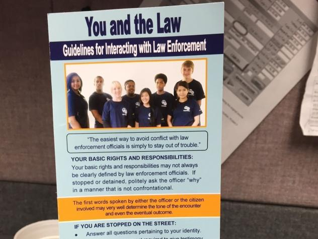 A crib sheet created to aid police-student interactions might be the first of its kind. The sheet was created by Akron, Ohio, high school students with help from the city's police department.