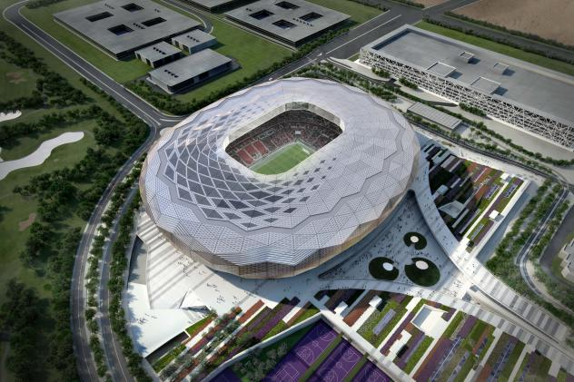 An artist's impression of the Qatar Foundation Stadium, one of the venues for the 2022 World Cup in Qatar. A FIFA task force recommended today that soccer's showcase tournament be played from late November to the end of December.
