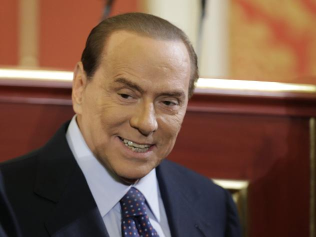 Former Italian Premier Silvio Berlusconi, seen here in 2012.