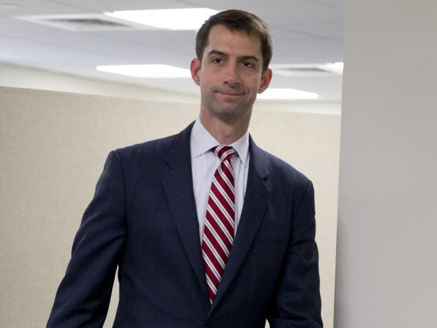 """Sen. Cotton, who orchestrated a letter to Iran's leaders disapproving of any potential deal with Iran, called the president's underlying assumptions in making a deal """"wishful thinking."""""""