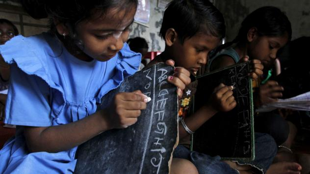 India is definitely making progress in getting more kids into school. This facility is in Bhubaneswar.