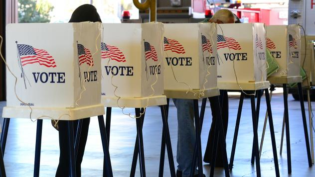 Voters in Los Angeles County, Calif., cast their ballots in 2012.