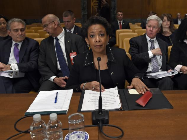 Attorney General Loretta Lynch prepares to testify Thursday at a budget hearing on Capitol Hill in Washington.