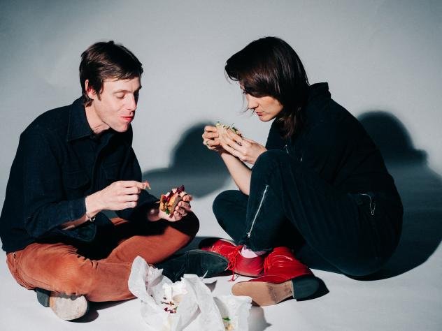 DRINKS is a collaboration between Cate Le Bon (right) and Tim Presley.