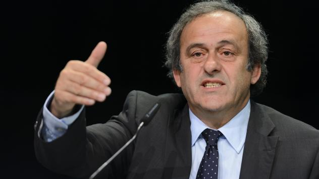 "UEFA President Michel Platini says his organization is backing FIFA President Sepp Blatter's opponent in Friday's presidential election. When asked if UEFA might consider leaving FIFA, Platini said, ""Of course."""