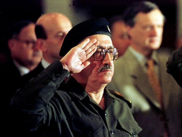 A September 2010 photo of Tariq Aziz taken during a jailhouse interview with The Associated Press in Baghdad.