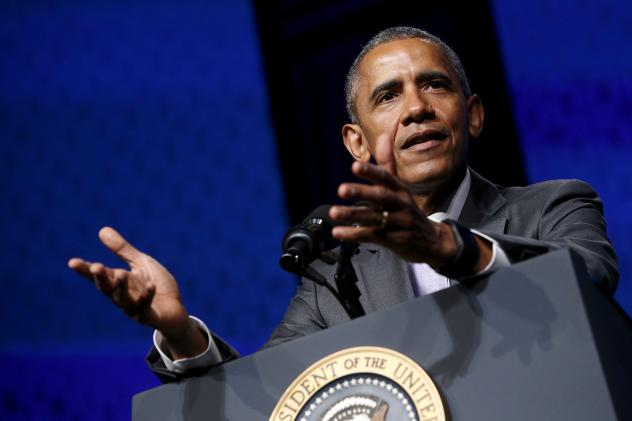 """""""Nearly 1 in 3 uninsured Americans have already been covered — more than 16 million people -– driving our uninsured rate to its lowest level ever,"""" President Obama told a cheering crowd at the Catholic Health Association's annual conference Tuesday."""