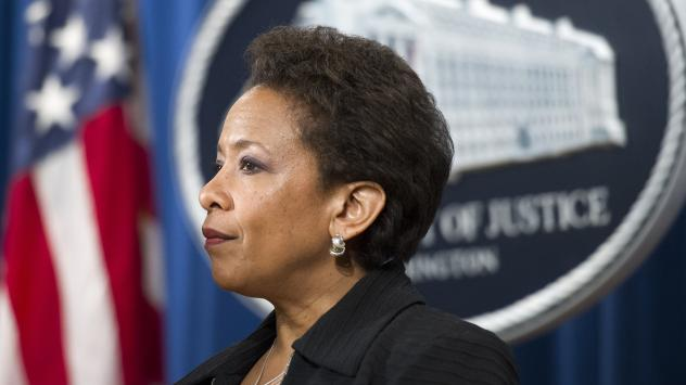 Attorney General Loretta Lynch, seen at a May news conference at the Justice Department, announced the change in federal marriage benefits on Thursday.