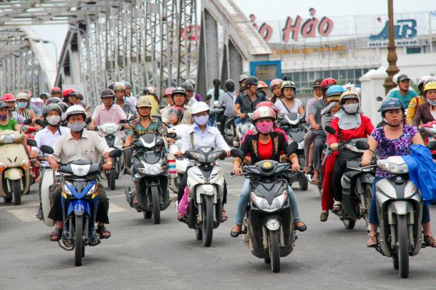 Tough helmet laws have caused the number of helmet wearers in a Vietnamese province to jump from 34 percent to 76 percent.