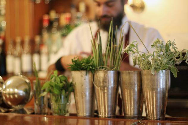 """At Anise, a bar in Beirut, Lebanon, beloved local herbs like za'atar, sage and rosemary are making their way into cocktails. """"We want to do something fresh in our cocktails,"""" says co-owner Marwan Matar."""
