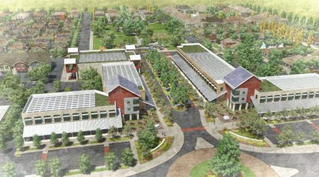 The plans for Kings River Village include smaller homes that are built close together with common green space.