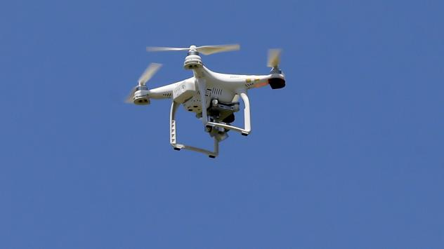 A drone similar to this one was shot out of the sky in Kentucky this week, by a homeowner who said his privacy was being invaded. He's now facing criminal charges in the case.