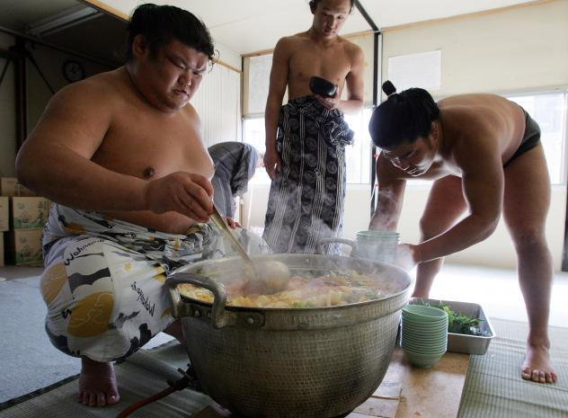 The U.S. Sumo Federation says more and more Americans are interested in sumo. But U.S. Sumo Open champions Natasha Ikejiri and Jenelle Hamilton say they haven't yet developed a taste for the traditional sumo stew.