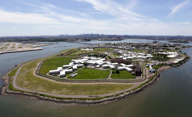 New York's biggest lockup, Riker's Island jail. In January, Riker's announced it would ban solitary confinement for inmates age 21 and younger.
