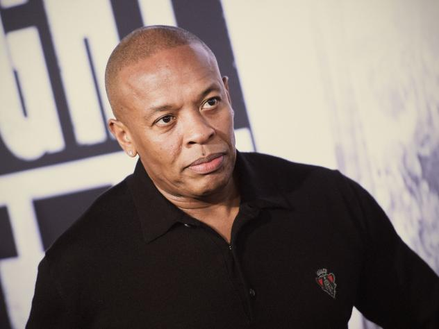 Dr. Dre attends the premiere of the film <em>Straight Outta Compton</em> in Los Angeles.