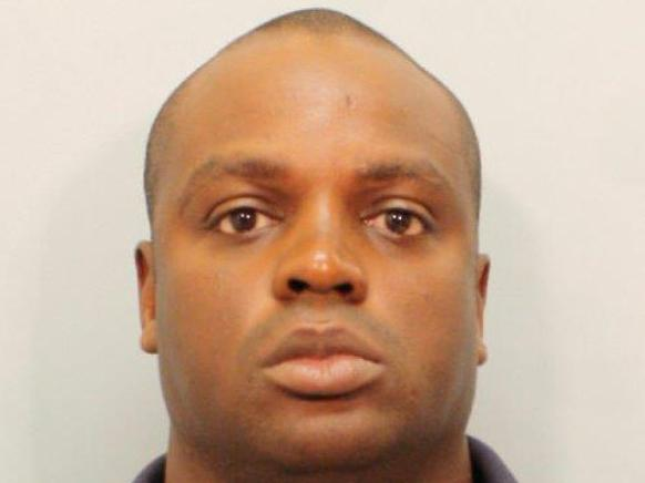 This undated photo provided by the Harris County Sheriff's Office on Saturday shows Shannon J. Miles. Prosecutors in Texas are charging the 30-year-old man with capital murder in the killing of Darren Goforth, a sheriff's deputy who was gunned down from