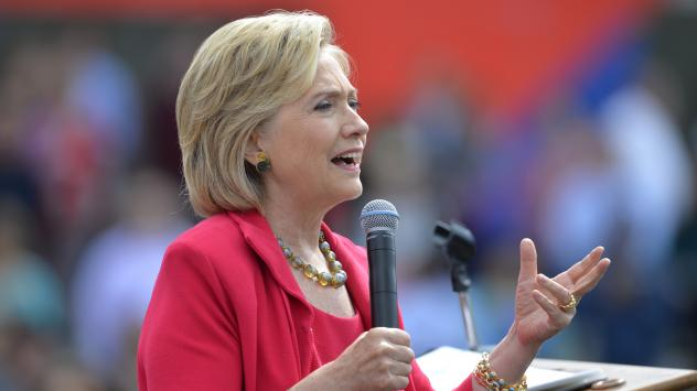 Democratic presidential candidate Hillary Clinton speaking in Cleveland last week. She has said nothing in her emails was marked classified.