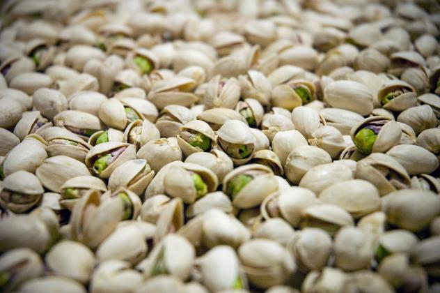 Hollow pistachios aren't spotted until after the harvest, when they're dumped into a water bath as part of standard processing. Blanks like the ones seen here float, while full nuts sink.