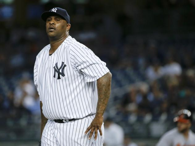 New York Yankees pitcher CC pictured here during a Sept. 9 game against the Baltimore Orioles in New York. Sabathia announced today he will enter alcohol rehab and miss the playoffs.