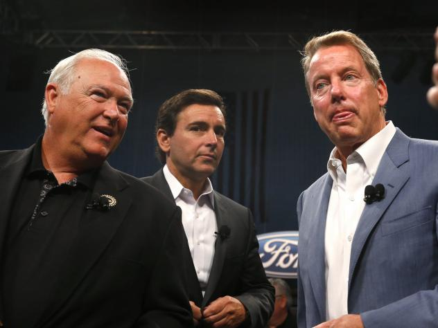 From left, United Auto Workers President Dennis Williams, Ford Motor Company President and CEO Mark Fields and Ford Executive Chairman William Clay Ford, Jr., at the opening of contract negotiations last July in Detroit.