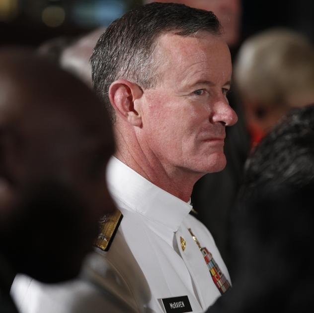 Retired Adm. William McRaven, who had operational control of the SEAL Team 6 mission to get Osama bin Laden, was honored by the FBI Agents Association on Wednesday.
