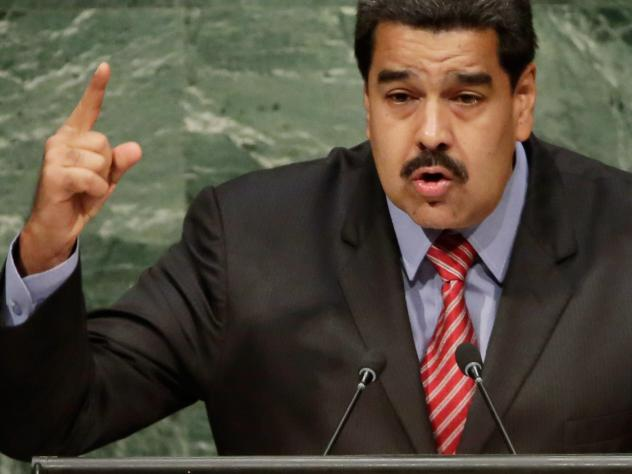 Venezuelan President Nicolas Maduro, speaking at the U.N. last month. U.S. authorities have reportedly charged two of his wife's nephews with drug smuggling.
