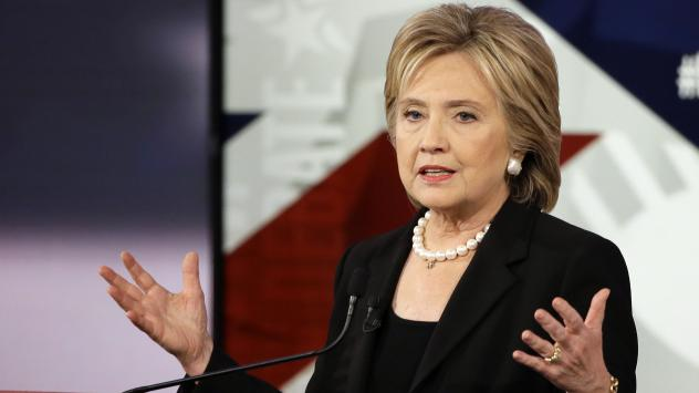 Hillary Clinton had to defend her views on foreign policy and President Obama's during Saturday's Democratic presidential debate, following the Paris attacks.