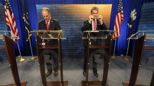 Democratic state Rep. John Bel Edwards and Republican Sen. David Vitter have battled in personal and bitter contest for governor.