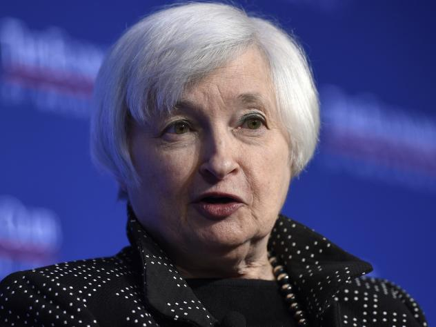 In a speech at the Economic Club of Washington, Federal Reserve Chair Janet Yellen says the U.S. economy is on track for an interest rate hike this month.