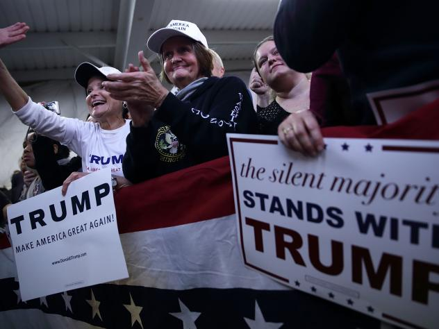 With supporters as fervent as these, Trump has found he doesn't need TV ads to stay afloat in the packed GOP field.
