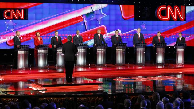 Republican presidential candidates debated in Las Vegas on Tuesday night.
