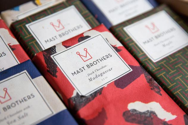 Mast Brothers chocolate sits for sale in a store on Dec. 21, 2015 in New York City. A blogger recently accused the chocolate company has of using industrial chocolate in their bars when it first started, contradicting their bean-to-bar narrative.