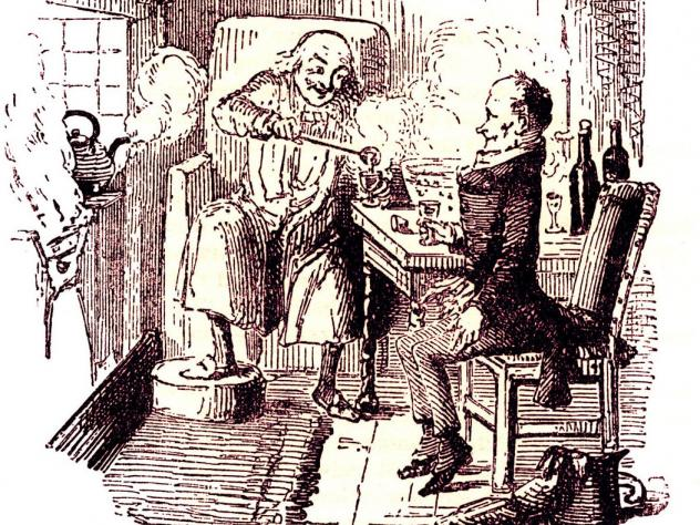 At the end of Charles Dickens' 1843 classic, <em>A Christmas Carol</em>, Ebenezer Scrooge and his long-abused employee, Bob Cratchit, enjoy a mug of Smoking Bishop<em>. </em>It's a drink loaded with English history, politics and class identity. Illustrat