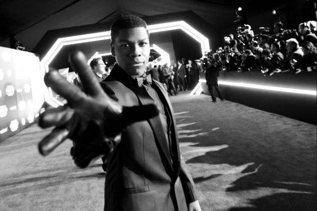 Actor John Boyega attends the world premiere of <em>Star Wars: The Force Awakens</em> in Hollywood. Boyega, the son of Nigerian immigrants, grew up in London.