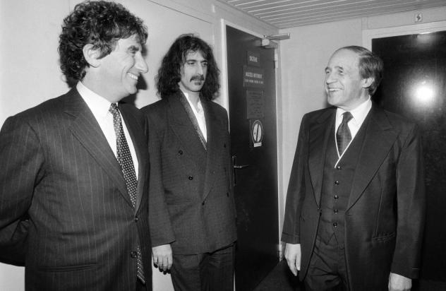 French conductor and composer Pierre Boulez (right), seen here in 1984 with musician Frank Zappa (center) and French Minister of Culture Jack Lang, has died at age 90.