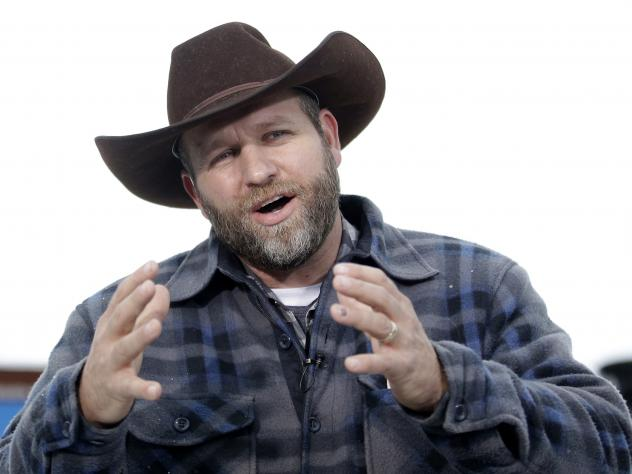 Ammon Bundy, 40, (pictured) and his brother Ryan Bundy were arrested Tuesday afternoon.