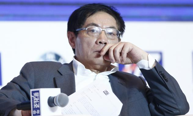 Ren Zhiqiang, a Chinese real estate tycoon, attends a conference in Beijing last Novemenber. Ren, 54, is locked in a battle with the government over the question of free speech.