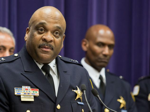 Interim Chicago Police Superintendent Eddie Johnson, a 27-year veteran of the force, is Mayor Rahm Emanuel's choice for permanent head of the department. Emanuel rejected three finalists identified after a national search.