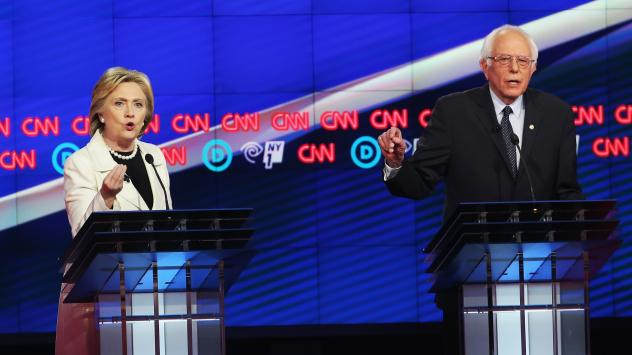 Hillary Clinton and Bernie Sanders both showed flashes of animosity bordering on contempt during Thursday's Democratic presidential primary debate in Brooklyn. The New York state primaries are Tuesday.