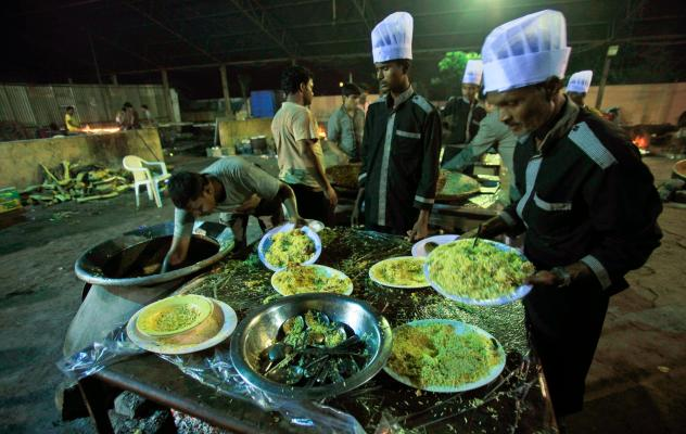 Indian weddings (and other big parties) serve a lot of food — and have a lot of leftovers. Now there's a plan in Mumbai to share the surplus with those who are hungry.