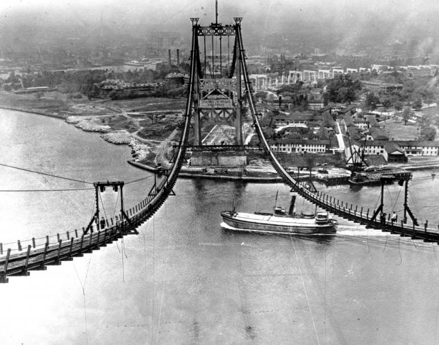 The Triborough Bridge is seen under construction in New York City on July 10, 1935. The bridge, now known as the Robert F. Kennedy Bridge, connects Long Island with Manhattan.  The Dutch Prime Minister is a fan of the biographer of Robert Moses, who was