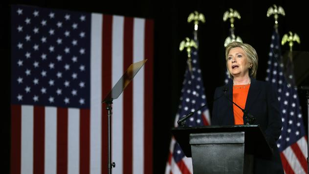 Democratic presidential candidate Hillary Clinton delivered a national security speech in San Diego that harshly criticized Republican candidate Donald Trump's foreign policy positions.