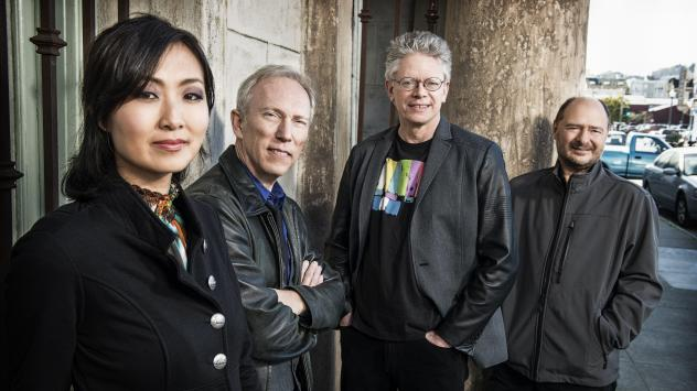 "Kronos Quartet led a workshop for young professional string quartets to explore new works commissioned as part of ""Fifty For The Future."""
